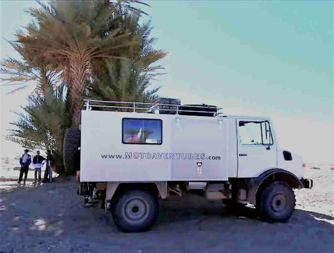 Rosy our Unimog for fast Dakar support
